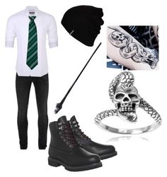 """""""Trinton Magnus"""" by lovelylittletri ❤ liked on Polyvore featuring Alexander McQueen, Stone Rose, Timberland, Hurley and Tressa"""