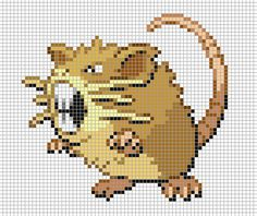 I do not take credit for this art I simply blew up the image and added the grid I do however take credit for recreating t. All 151 Pokemon, Gen 1 Pokemon, Art Pokemon, Pokemon Sprites, Pokemon Cross Stitch, Stitch Character, Crochet Pokemon, Pokemon Perler Beads, Dashboards