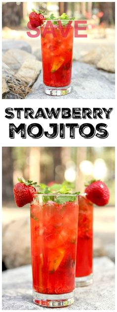 Easy recipe for Strawberry Mojitos : the perfect summer…  Easy Recipe