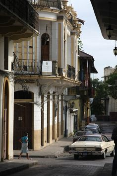 Image of one of the narrow streets of the Casco Viejo or Old City of Panama.  PANAMA