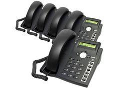 Snom 300 Black Corded VoIP Full Duplex 4-Line Operation Phone ( 5 pack ) #Snom