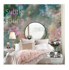"""A Subtle Spring"" by eyesondesign ❤ liked on Polyvore featuring interior, interiors, interior design, home, home decor, interior decorating, Andrea & Joen, TastemastersDesignGroup and eyesondesigninteriors"