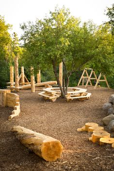 More than fifty per cent of Hendrick Farm land is preserved green space available for public enjoyment. Including parks, trails, and walking paths. Natural Outdoor Playground, Wood Playground, Park Playground, Playground Design, Playground Ideas, Backyard Playground, Backyard For Kids, Outdoor Fun, Kids Church Decor