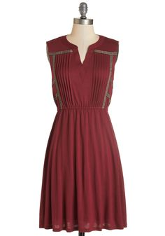 Do Tell Dress. Your great sense of style, like folklore, is both precious and meant to be shared. #red #modcloth