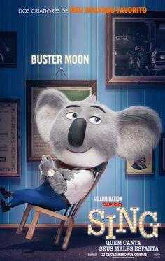 Buster Moon, o Coala sonhador de Sing - Quem Canta Seus Males Espanta, 22 de dezembro nos cinemas!