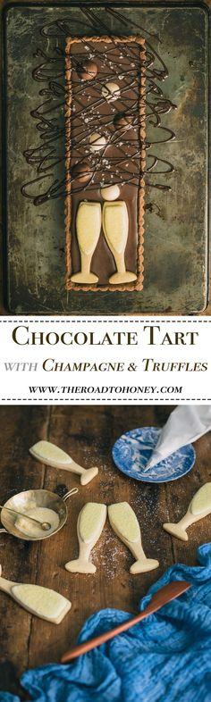 Chocolate Tart with Champagne & Truffles