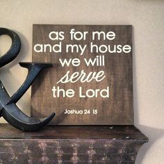 As+for+Me+and+My+House+Wall+Art+by+InspireByAmandaG+on+Etsy,+$25.00
