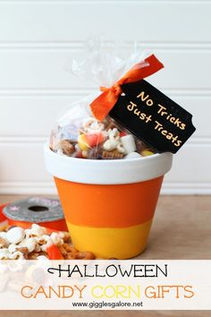 Halloween Candy Corn Gifts by Giggles Galore