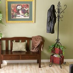 Coat Rack with baskets