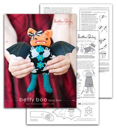 """@Rebecca Henry DIY- Free Pattern """"Betty Boo"""" Sock Doll. We should make some for Char!"""