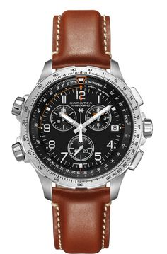 Discover a wide range of Hamilton men's watches including chronograph, automatic, classic, sports and dress watches. Swiss made watches never looked so good. Swiss Made Watches, Expensive Watches, Affordable Watches, Seiko Watches, Wrist Watches, Luxury Watches For Men, Stylish Watches, Casual Watches, Beautiful Watches