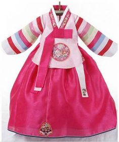 Baby girl's hanbok - Long pink top (toddler size available)