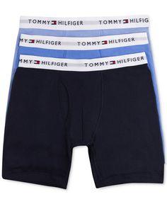 NEW TOMMY HILFIGER MEN 3 PACK/3 COLORS CLASSIC BOXER BRIEF 100% COTTON RP:$39.50 #TommyHilfiger #BoxerBrief