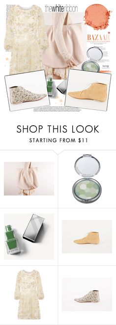 """""""The White Ribbon"""" by gaby-mil ❤ liked on Polyvore featuring Physicians Formula, Burberry, Oscar de la Renta, Zelens, bag, oxfordshoes and thewhiteribbon"""