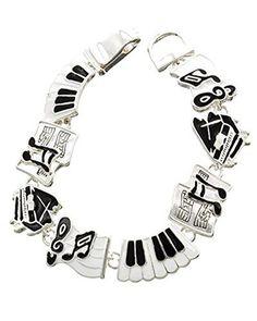 Antique Silver Music Theme Bracelet / AZBBMU001-SIL  Price : $30.00 http://www.arrascreations.com/Antique-Silver-Music-Bracelet-AZBBMU001-SIL/dp/B00SA2I2ZU
