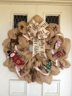 burlap wreath | Burlap | Wreath-o-Rama!
