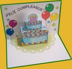 1000 images about pop up cards on pinterest libros - Como hacer tarjetas de cumpleanos ...
