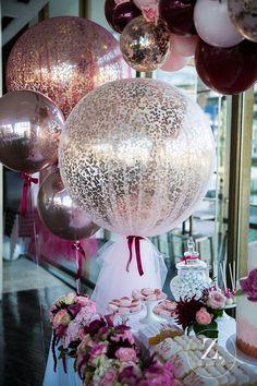 Bridal Shower Decorations, Balloon Decorations, Birthday Decorations, Wedding Decorations, Table Decorations, Wedding Centerpieces, Shower Party, Baby Shower, Pink Color Schemes