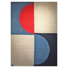 Rare Sonia Delaunay Textile, circa 1967 | From a unique collection of antique and modern western european rugs at https://www.1stdibs.com/furniture/rugs-carpets/western-european-rugs/