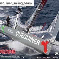 #Repost @queguiner_sailing_team  Poster version paysage #YannElies #QueguinerLeucemieEspoir à retrouver aux Sables d'Olonne. #queguinersailingteam #queguiner #leucemieespoir #sailing #vg2016
