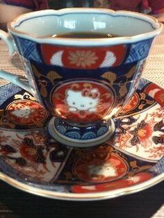 Hello Kitty Arita (Japanese Famous Porcelain) Tea Cup...12,600 JPY!!! hahaha