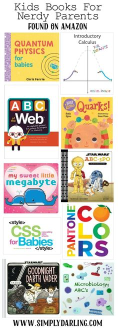 Make sure to check out these awesome kids books that nerdy parents are sure to love! Found on Amazon for easy shopping. Perfect for baby shower gifts.