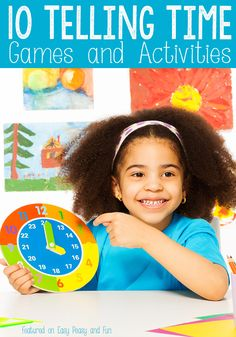 10 Easy Telling Time Games and Activities for Kids - Easy Peasy and Fun