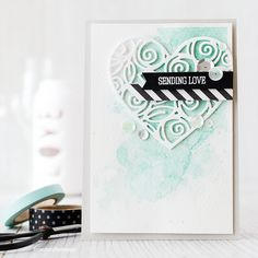 Lime Doodle Design: Making the sentiment pop - watercolour card