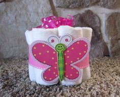 mini diaper cake butterfly decoration baby shower or by TMLcreates, $7.25