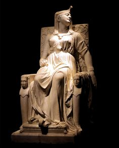 Death of Cleopatra by famed African American artist Edmonia Lewis, who went on to paint the official portrait of President Ulysses S. Grant.  1876