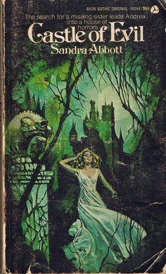 ..Castle of Evil, gothic romance novel book cover