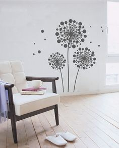 Dandelion Fly Wall Decal  Dandelion Fly Sticker  by HomeFreeStyle, $14.90