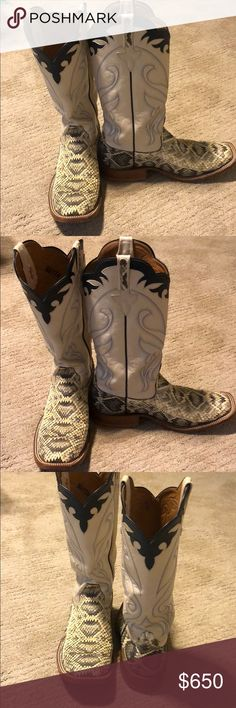 Men's Rios Mercedes Custom-Made Diamond Back Boots Men's Rios of Mercedes custom-made diamond back boots. Worn 3 times!! Rios of Mercedes Shoes Boots