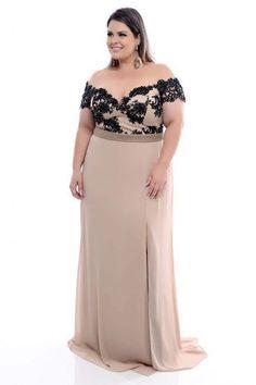 Vestido Plus Size Luxe Black Plus Size Gowns Formal, Plus Size Prom, Evening Dresses Plus Size, Wedding Dresses Plus Size, Plus Size Maxi Dresses, Plus Size Outfits, Dressy Dresses, Simple Dresses, Long African Dresses