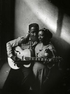 Muddy Waters and wife Geneva, Chicago, 1951.