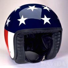 Davida jet Helmets:  Complex Stars & Stripes  Product Code: 80531