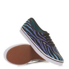Vans Authentic Lo Pro Shoes - Zebra Black/ Scuba Blue. £48