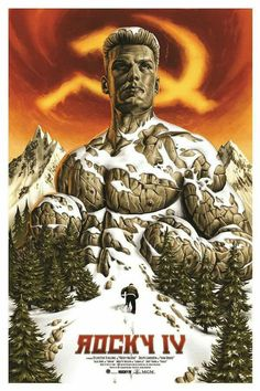 This is an officially licensed screen print movie poster for Rocky IV. For this screen print movie poster we teamed up with Jason Edmiston (Canada). Size x size of 7510 Colors Printed by DL ScreenprintingArtwork by Jason Edmiston 80s Movie Posters, Classic Movie Posters, Cinema Posters, Movie Poster Art, Poster Wall, Classic 80s Movies, Great Movies, Sylvester Stallone, Jason Edmiston