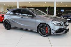 Mercedes Hatchback, Mercedes A45 Amg, Mercedes Car, A Class Amg, Mercedes A Class, Vinyl Wrap Car, Prestige Car, Benz Car, Car Goals
