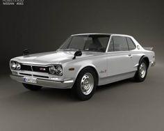 3D model of Nissan Skyline (C10) GT-R Coupe 1970