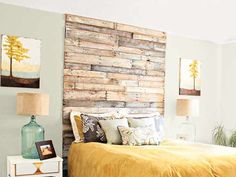 33 Genius DIY Headboards You'll Want in Your House Now Bedroom Ideas, Bedroom Wall, Wall Headboard, Home Decor Bedroom, Diy Home Decor, Master Bedroom, Cool Woodworking Projects, Diy Wood Projects, Teds Woodworking