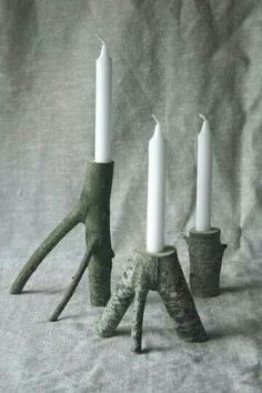 Natures candle stick holders