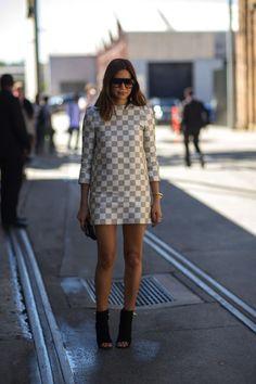wearing louis vuitton   at australian fashion week   sydney april 2013