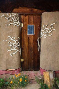 Cob house door