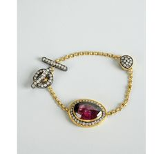 Amrapali tourmaline and diamond chain bracelet