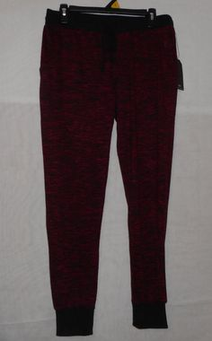 Womens Size Large Red & Black Pants Lounge Casual Almost Famous #Large…