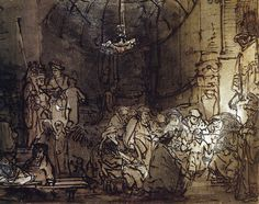Rembrandt van Rijn - Christ Among the Doctors, 1645