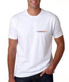 Men's White Short Sleeve Long Body Urban T Shirt