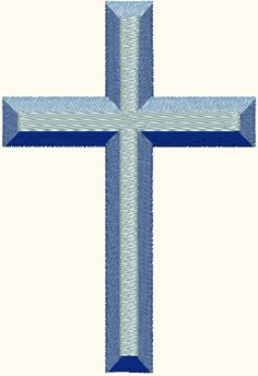 Beveled Cross Embroidery Design