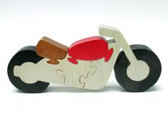 Motorcycle Decor and Puzzle Made from Wood by berkshirebowls